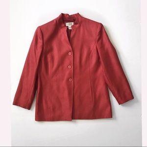🛍Talbots red long blazer size 4 Petite